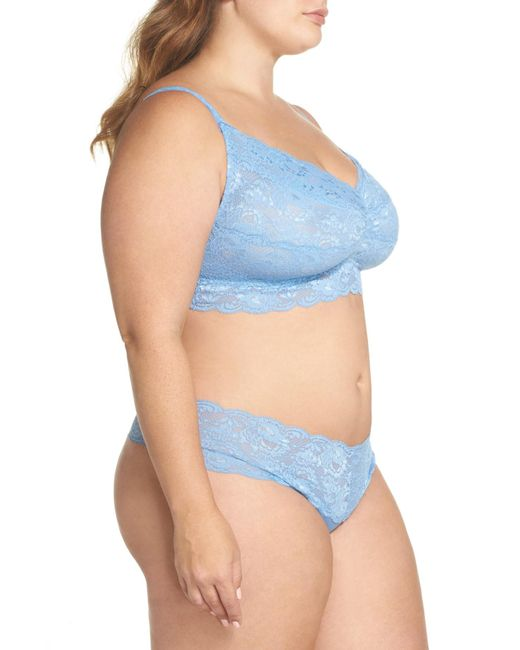 2988f672d ... Cosabella - Blue Never Say Never Sweetie Bralette (plus Size) - Lyst ...