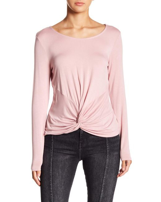 Love, Fire - Pink Knot Accent Knit Top - Lyst