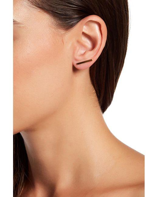 Gorjana   Metallic Marla Bar Ear Climbers   Lyst