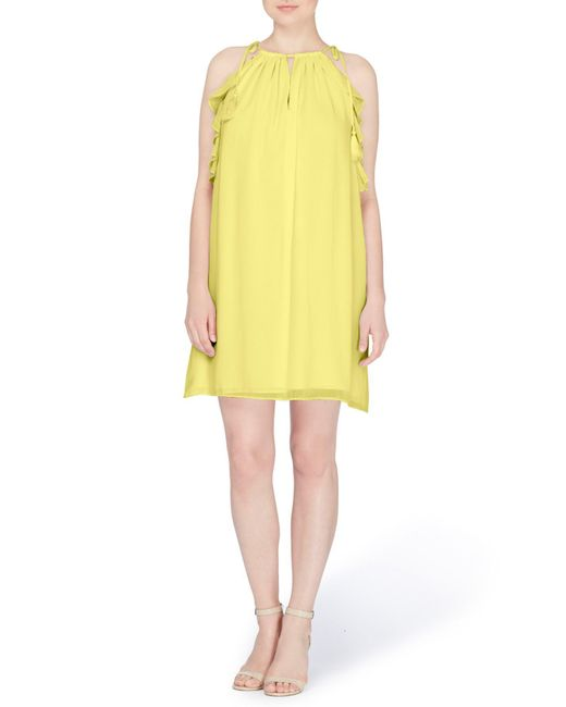 Catherine Malandrino - Yellow Natalie Tie Shoulder Shift Dress - Lyst