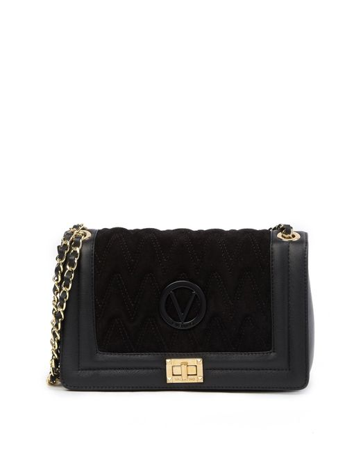 Valentino By Mario Valentino - Black Alice Diamond Quilted Leather Shoulder Bag - Lyst