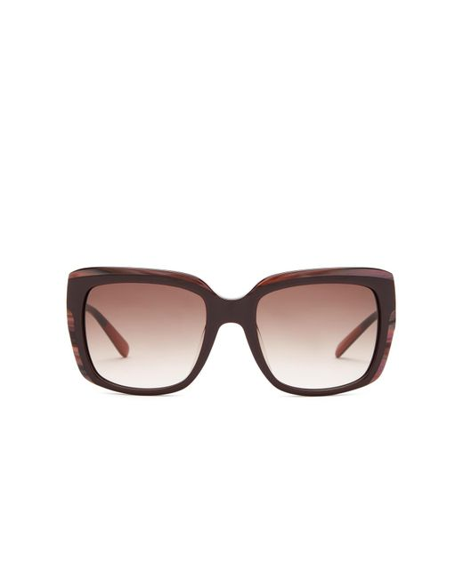 Missoni | Brown Women's Wide Temple Rectangle Sunglasses | Lyst