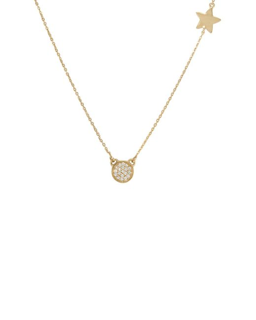 Melinda Maria - Metallic Cade Pave Cz Concave Pendant & Star Charm Necklace - Lyst
