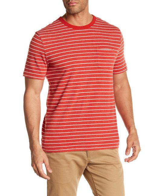 Jack Spade - Red Stripe Pocket T-shirt for Men - Lyst
