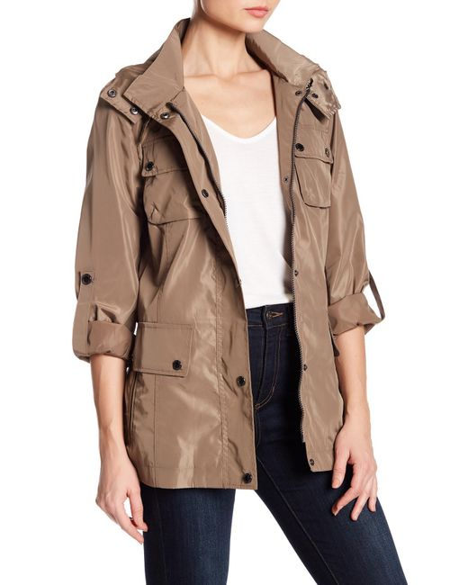 BCBGeneration - Natural Buckle Belt Trench Coat - Lyst