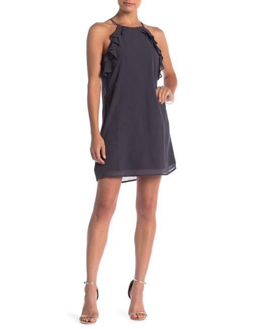 Naked Zebra - Multicolor Ruffle Accent Dress - Lyst