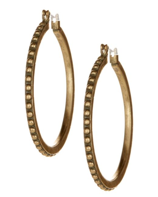 Lucky Brand | Metallic Dot Hoop Earrings | Lyst