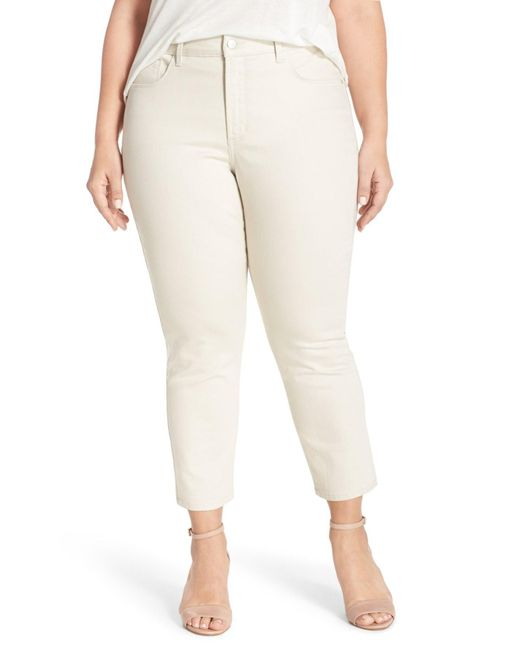NYDJ | Natural Clarissa Stretch Slim Ankle Jean (plus Size) | Lyst