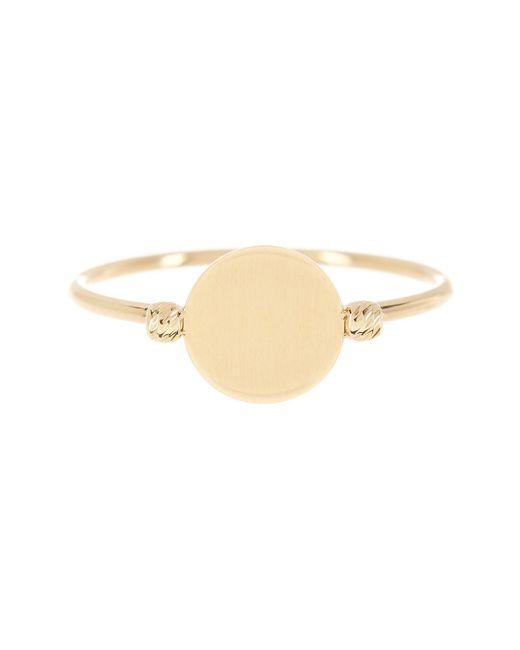 KARAT RUSH | 14k Yellow Gold Shiny Flat Bead Ring - Size 7 | Lyst