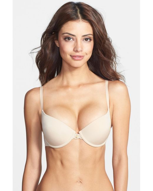Natori | Natural 'pure Luxe' Push-up Bra | Lyst