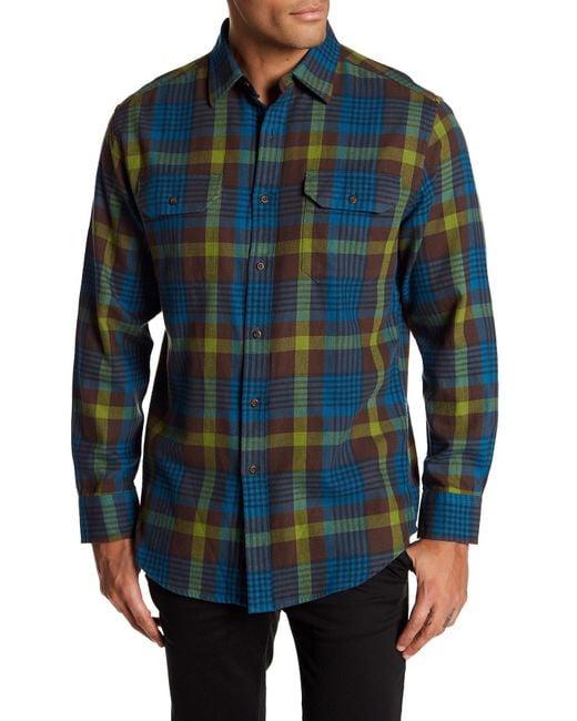 Pendleton | Blue Bridger Twill Plaid Regular Fit Shirt for Men | Lyst