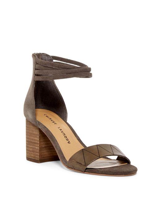 Chinese Laundry | Brown Rylan Block Heel Sandal | Lyst