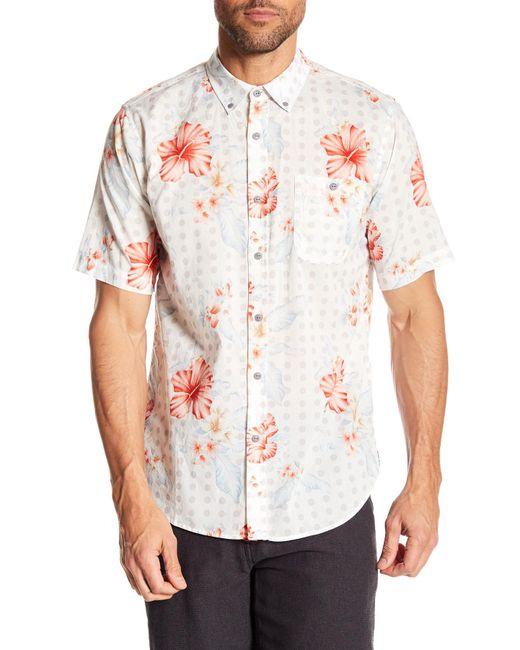 Ezekiel - White Laguna Short Sleeve Regular Fit Shirt for Men - Lyst