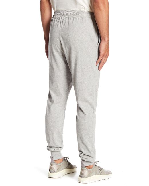 cf71197d front three quarter view of mens champion powerblend jogger pants in oxford  grey