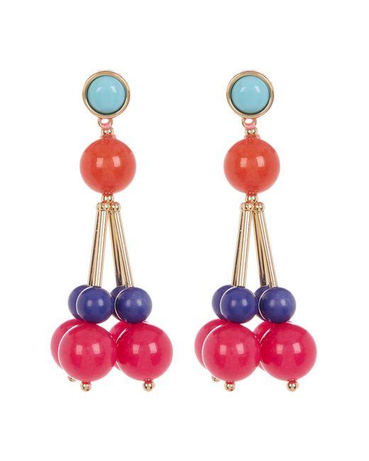 Trina Turk | Multicolor Bead Cluster Drop Earrings | Lyst
