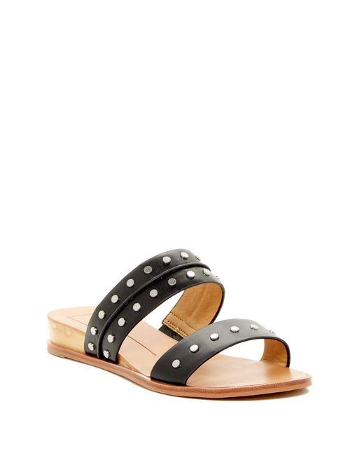 Dolce Vita | Black Pacey Studded Slide Sandal | Lyst