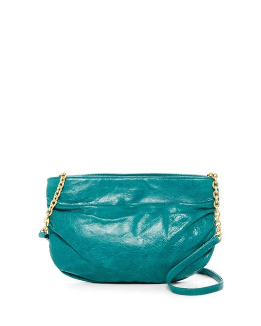 Hobo | Green Belle Ruched Leather Crossbody Bag | Lyst