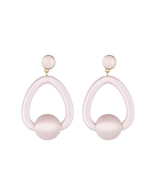 BaubleBar - Pink Mariela Woven Hoop Drop Earrings - Lyst
