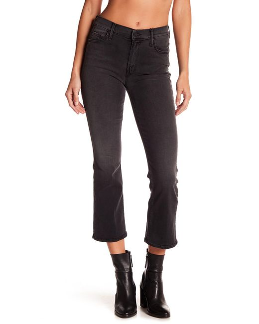 Mother | Multicolor Insider Cropped Bootcut Jeans | Lyst