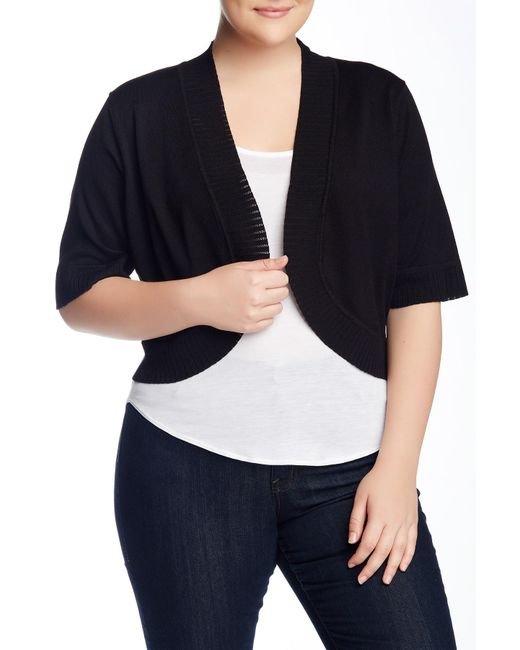 Cable & Gauge - Black Shrug Sweater (plus Size) - Lyst