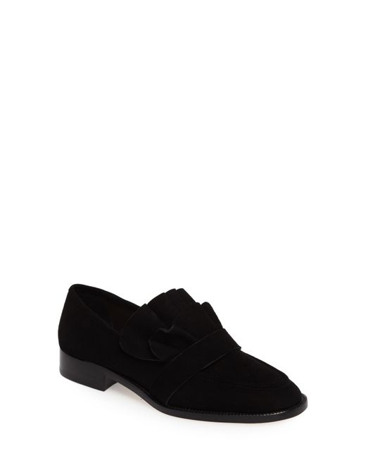 Pour La Victoire - Black Tenley Ruffled Loafer - Lyst