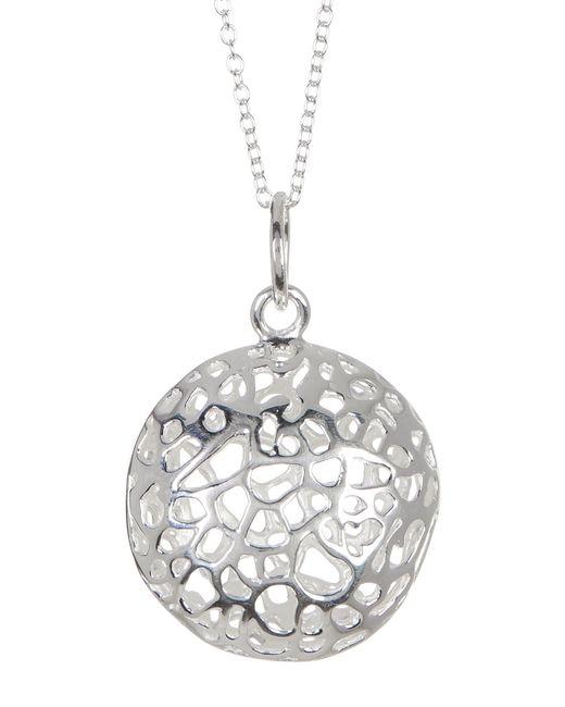 Argento Vivo | Metallic Sterling Silver Filigree Dome Pendant Necklace | Lyst