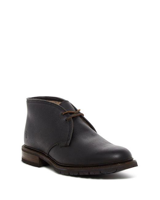 Frye | Black James Genuine Shearling Chukka Boot for Men | Lyst
