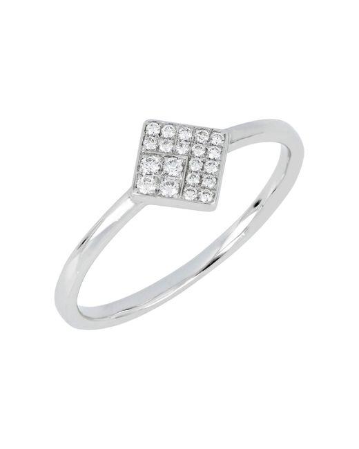 Bony Levy - 18k White Gold Diamond Square Ring - 0.10 Ctw - Lyst