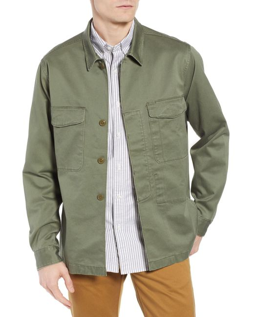 J.Crew - Green Regular Fit Military Shirt Jacket for Men - Lyst
