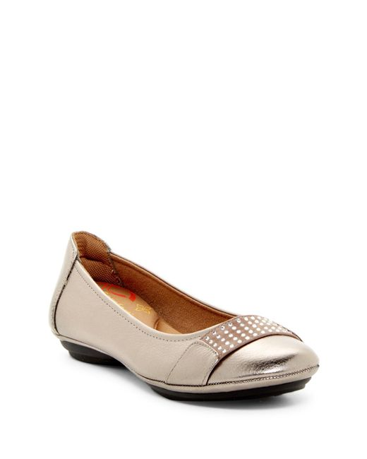 Comfortiva   Brown Sallis Jewel Embellished Flat - Wide Width Available   Lyst