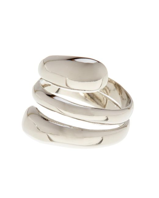 Ariella Collection | Metallic Metal Double Bypass Ring | Lyst