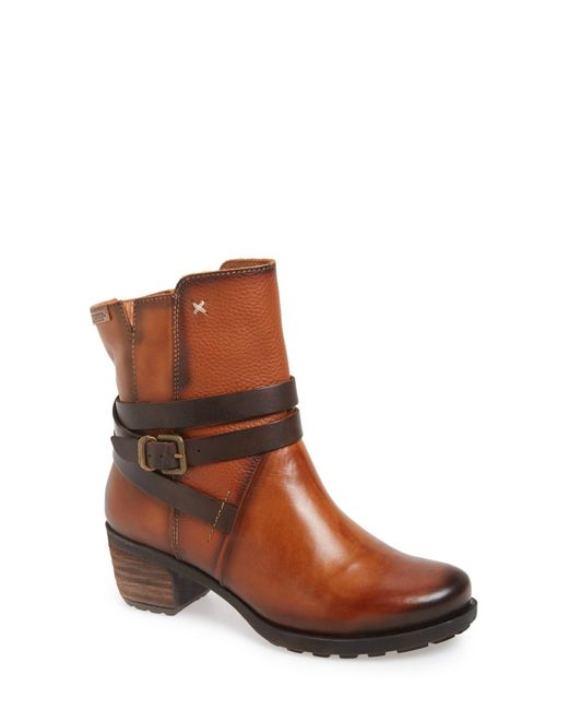 Pikolinos   Brown 'le Mans' Strappy Boot   Lyst
