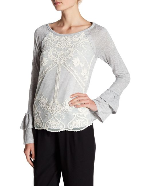 Jolt | Multicolor Double Sleeve Accent Lace Overlay Top | Lyst
