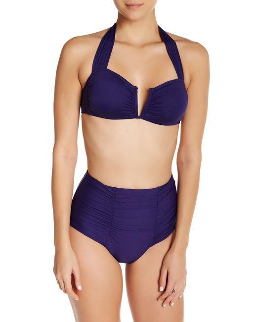 Becca Color Code Vintage Swim Bottom In Blue Lyst