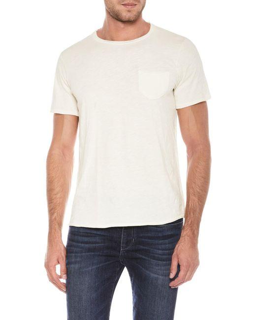Joe's Jeans - White Chase Raw Edge Slub Tee for Men - Lyst