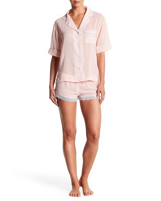 Honeydew Intimates - Pink Bridal Chiffon Pajama Set - Lyst