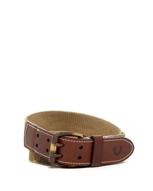 True Religion - Multicolor Camo Woven Belt for Men - Lyst