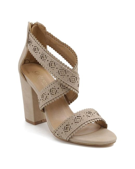 Catherine Malandrino Multicolor Zelma Crisscross Cutout Heeled Sandal