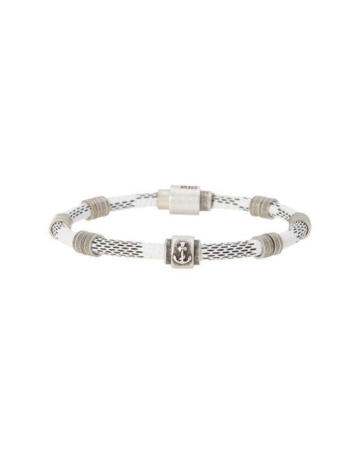 Steve Madden - Metallic Rondelle Braided Bracelet - Lyst