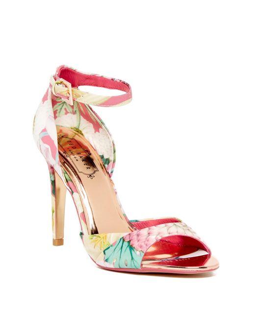 ted baker caleno heeled sandal in multicolor lyst. Black Bedroom Furniture Sets. Home Design Ideas