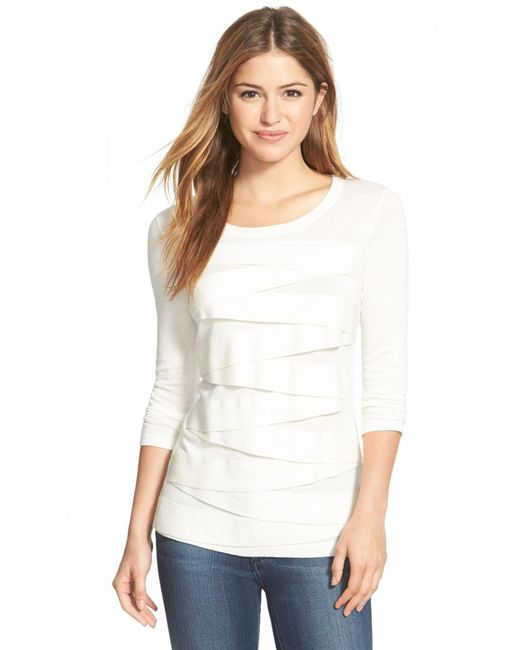 Vince Camuto   White Zigzag Sweater   Lyst