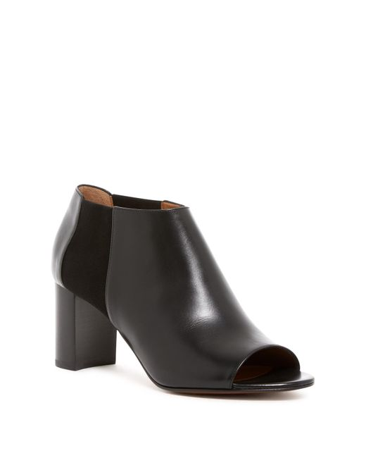 Aquatalia - Black Shaw Peep Toe Leather Bootie - Lyst