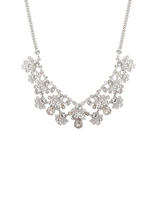 Givenchy - Metallic Crystal Cluster Bib Necklace - Lyst