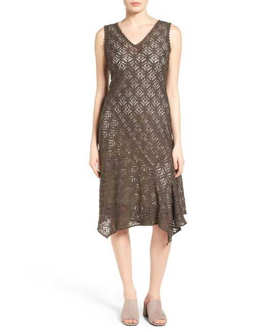 NIC+ZOE | Brown First Bloom Lace Fit & Flare Dress | Lyst