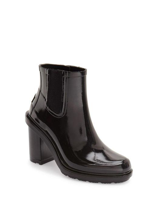 Hunter - Black Original Refined Chelsea Rain Boot - Lyst