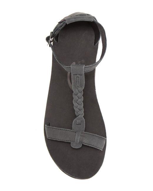 0b8446da8b9 ... Rainbow Sandals - Black Calafia Single Layer Center Braid Heel - Lyst  ...