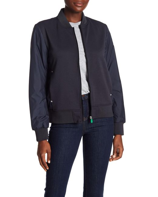 Save The Duck - Blue Split Collar Front Zip Jacket - Lyst