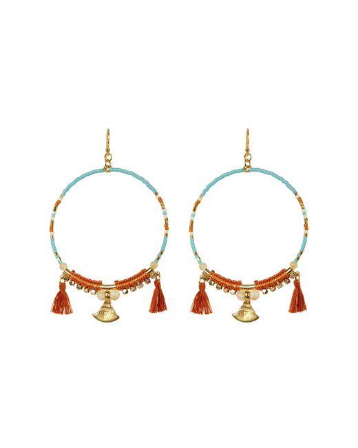 Chan Luu - Multicolor Beaded Tassel Hoop Earrings - Lyst
