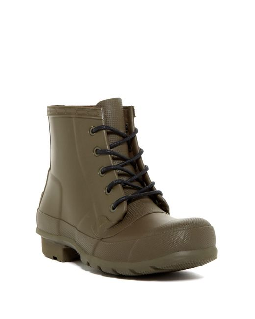 Hunter | Green Original Waterproof Lace-up Boot | Lyst