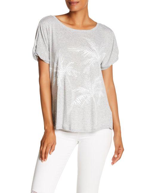 Democracy - White Short Origami Sleeve Palm Shirt - Lyst